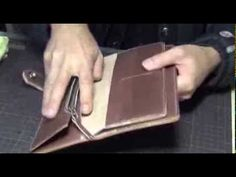 Making a Leather Long Wallet (Simple) - YouTube