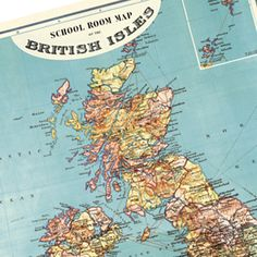 British Isles Wrapping Paper Poster | Cavallini  £3