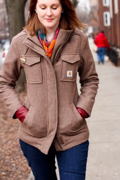 Carhartt Women's Camden Wool Parka - cute and probably worth the money! I honestly never thought that Carhartt could make something so adorable.