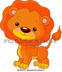 divertimento, zoo., leão Ampliar Gráfico Clipart