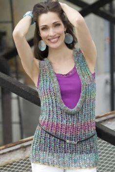 Lace Tank - free knit pattern