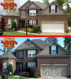 Before and after exterior makeovers on pinterest garage doors carriage house and curb appeal - Top notch image of home exterior decoration with clopay garage door ideas ...