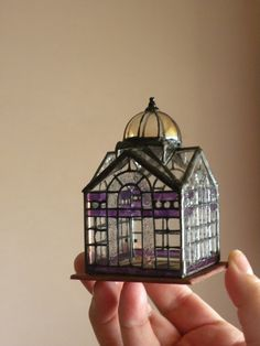 Miniatures, glass house, I think these would be so cute when a few are scattered around the garden... slightly hidden from direct sight