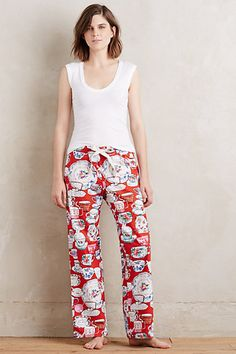 Tea Time Flannel Sleep Pants #anthropologie oh i need these!!