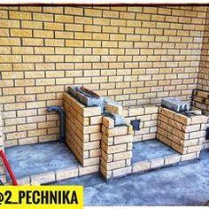 Приступили к строительству барбекю комплекса из интересного ломанного кирпича, будет смотреться как скала) @2_pechnika #камень #мангал #барбекю #печь #плов #беседка #шашлык #лето2018 #тольятти #подстепки