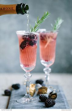 A Delightful MCC Cocktail with Blackberry & Rosemary