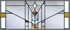 Stained Glass Window Mission Style Prairie Transom on Etsy, $225.00