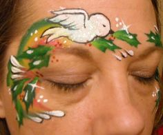 Christmas Face Paint Design Linda Schrenk/Amazing Face Painting by Linda, Jacksonville FL