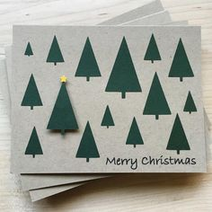 Simple, rustic, and elegant set of Christmas cards. This Christmas card set is perfect to have on hand this holiday season or to give out to friends, family, &a