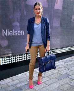 Blazer and pink shoes