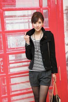 Lana de pelo corto 2012 nueva caída chaqueta de las mujeres y la ropa de invierno versión coreana de las mujeres delgadas chaqueta cortos