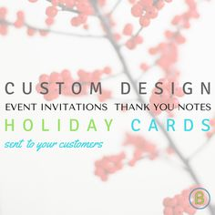 Business cards, event invitations, thank you notes, and holiday cards - we offer custom designs that can be sent directly to your customers this season.  #creative #design #graphicdesign #brandmarketing #creativedesign #sales #marketing #smallbusiness #entrepreneurs #brandbuilding #holiday #holidayparty #womenentrepreneurs #officeparty #holidaycards #brandmarketer #graphicdesigner #bobella