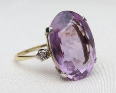 Vintage amethyst and diamond ring