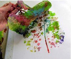 Técnicas de pintura com folha seca! LINDA!