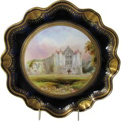 Antique English Cabinet Plate, Bolton Abbey, signed Birbeck, C Aynsley Painted Trays, Hand Painted Plates, Decorative Plates, Painting Kitchen Cabinets, Kitchen Paint, Bolton Abbey, Antique Plates, Objet D'art, Milk Paint