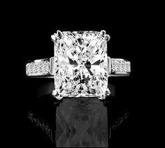 3.5 CT Fine Emerald Shape Radiant Cut Diamond Veneer-Diamond Engagement Ring