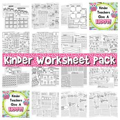 This title includes over 160 math and literacy worksheets that will hopefully not only make your life easier (and encourage your owl fetish :P) but will also keep you at the top of your CCSS game! MATH: Addition & Subtraction Calendar & Time Concepts Color & Number Recognition Counting Geometry Number Order Number Handwriting  LITERACY: Alphabet Handwriting Fine Motor Skills Initial, Vowel, & Ending Sounds Reading Rhyming Sight Words Spelling Syllables Writing