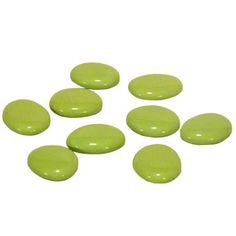 Galets laqués vert anis