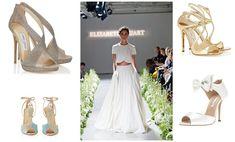 Shoe style inspiration: TL: Jimmy Choo    TR: Jimmy Choo    BL: Charlotte Olympia   BR: Oscar de la Renta   Wedding Shoe Style Inspiration - Nu Bride