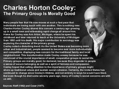 Charles Cooley (1864 - 1929) [click on this image to find a short video and analysis, which takes up Cooley's concept of the looking glass self]