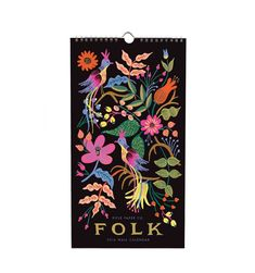 2016 Folk Calendar by Rifle Paper Company Features 12 Original Illustrations