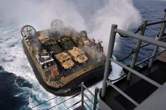 A different lcac entering rear hatch
