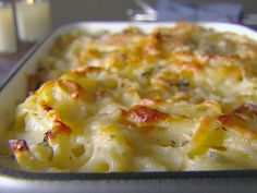 Creamy Baked Fettuccine with Asiago and Thyme : Recipes : Cooking Channel - Giada Giada Recipes, Thyme Recipes, Cooking Recipes, Pasta Recipes, Yummy Recipes, Recipies, Dinner Recipes, Noodle Recipes, Brunch Recipes