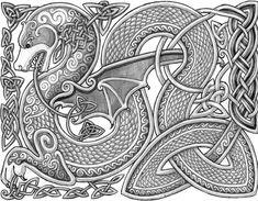 Celtic Dragon by Lariethene.deviantart.com on @DeviantArt