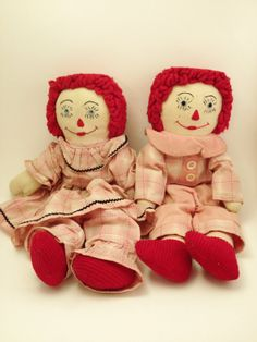 Hand Made Raggedy Ann Andy Hand Made Doll Pink Dress by Comforte, $22.00