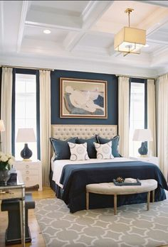 A small master bedroom doesn't have to be a problem. Here are 25 beautiful bedro… A small master bedroom doesn't have to be a problem. Here are 25 beautiful bedrooms filled with great ideas for making the most of a small space.: An Elegant Master Bedroom Small Master Bedroom, Master Bedroom Design, Home Decor Bedroom, Bedroom Ideas, Bedroom Designs, Master Suite, Master Bedrooms, Bedroom Wall, Girls Bedroom