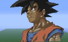Minecraft Pixel Art- Goku from Dragon Ball Z
