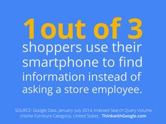 Even while shopping in stores, customers turn to their phones for answers.