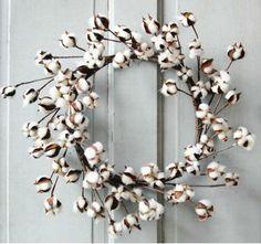 Holiday Cotton Wreath