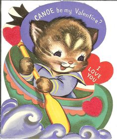 Vintage Valentine Card by BurtsFirstRodeo on Etsy