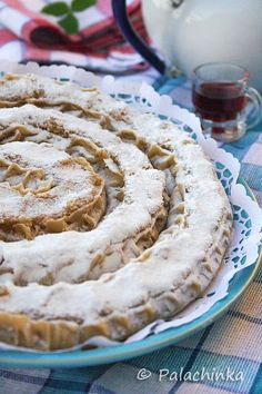 The Rab cake (Croatian: Rapska torta) is a traditional Croatian cake which originates from the Adriatic island of Rab. Its main ingredients are almonds and Maraschino liqueur and it is traditionally baked in the shape of a spiral, although today several shapes are popular.