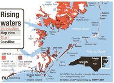 North Carolina Huge Risks with Rising Sea Levels