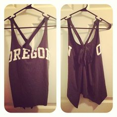 DIY old college tshirt tank top!  Super quick and easy <3  Photo by panck3 • Instagram
