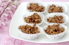 Mars-riisimuromakeiset Rocky Road, Something Sweet, Diy Food, Almond, Muffin, Sweets, Candy, Breakfast, Desserts