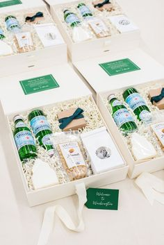 Top Wedding Welcome Gift Box Designs of 2018 WEDDING WELCOME GIRTS// Forest green and white elegant luxury DC wedding welcome boxes, best curated gifts this year by . Wedding Welcome Gifts, Wedding Gift Bags, Wedding Gifts For Guests, Wedding Boxes, Gold Wedding, Wedding Favors, Rustic Wedding, Wedding Ideas, Gift Box Design