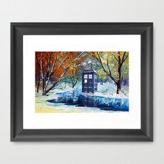 snowy blue phone box at winter zone Framed Art Print price start from $37.00 to $126 #winter #snow #christmas, #abstract #doctor #thedoctor #doctorwho #nerd #geek #tardis #nerdy #geeky #timevortex #timelord #badwolf #nerds #fandom #ninthdoctor #tenthdoctor #twelvethdoctor #drwho #timetravel #british #angel #gallifrey #gallifrean #bluebox #dalek #mattsmith #davidtennant #dontblink #blink #police #publiccallbox #vangogh #starry #night #starrynight