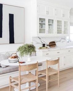 Kitchen design modern small dining nook 25 ideas for 2019 Interior Modern, Home Interior, Interior Design Kitchen, Home Design, Kitchen Designs, Interior Decorating, Decorating Ideas, Design Design, Modern Exterior