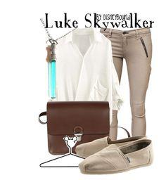 """Luke Skywalker"" by leslieakay ❤ liked on Polyvore featuring rag & bone, Bohemia, Disney, TOMS and disney"
