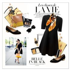 """Belle in black"" by amaryllis ❤ liked on Polyvore featuring Bela, P.A.R.O.S.H., Chanel, Charlotte Olympia and Rolex"