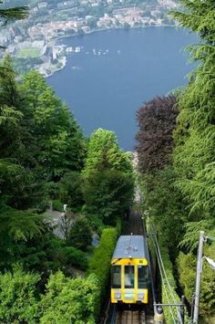 Cable car to Brunate - Lake Como, Italy. Really wish I would have done this when I was there!