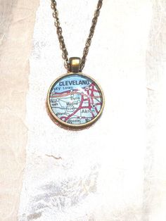 Cleveland Rocks Necklace Upcycled Vintage by NorthCoastCottage, $39.00