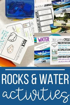 Easy and engaging ideas and science activities for teaching first grade students about Rocks, Soil and Water. Science Lessons, Teaching Science, Teacher Hacks, Teacher Pay Teachers, Organization Station, Water Pond, Moving Water, Teaching First Grade, Stem Projects