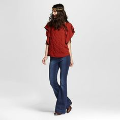 Women's High Rise Flare Jeans Dark Wash Sasha 1 - Dollhouse (Juniors'), Blue