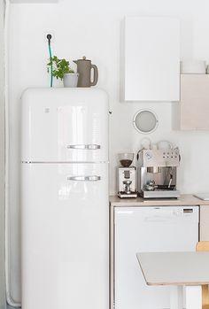 White Minimal Nordic Kitchen | @andwhatelse