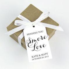 sending you smore love favor tag - smore wedding favors