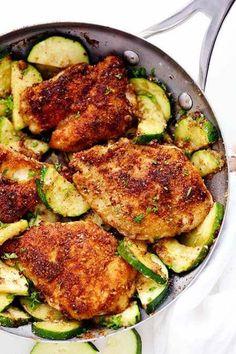 recette de poulet avec des courgettes ail et parmesan
